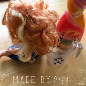 {DIY} Quick Fix for Tangled Doll Hair - More at MadeByMeggsDOTcom (10)