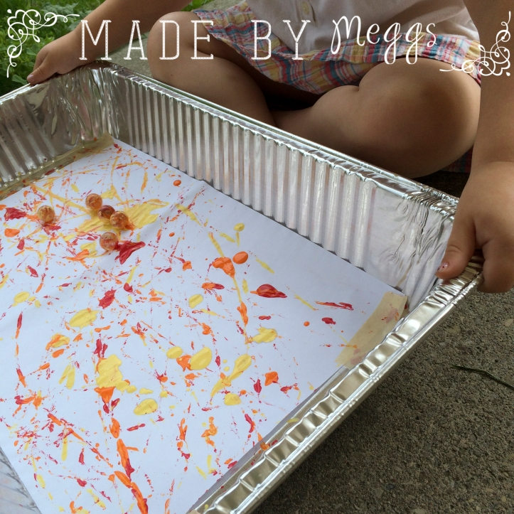 No Mess Marble Painting with Toddlers - Read More at MadeByMeggs(dot)com