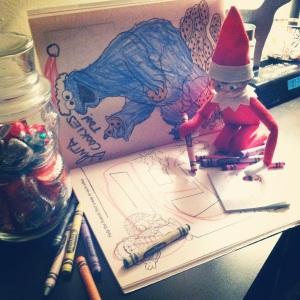 Night 02- Elf on the Shelf -More at MadeByMeggsDOTcom