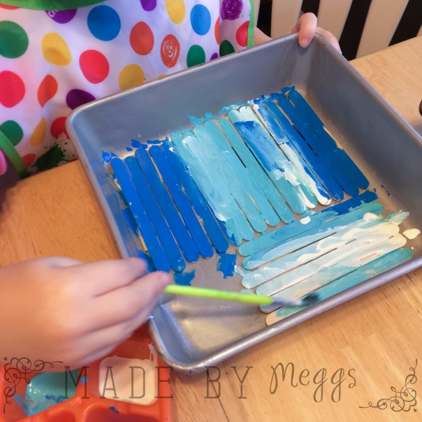 Snowflake Popsicle Stick Craft - More at MadeByMeggsDOTcom 2