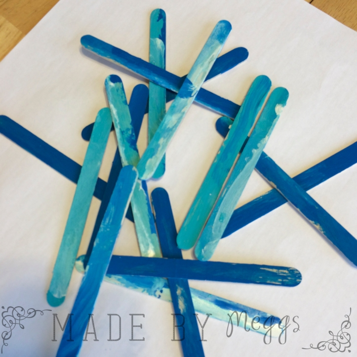 Snowflake Popsicle Stick Craft - More at MadeByMeggsDOTcom 3