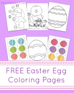 Easter Coloring & Matching