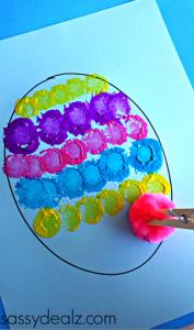 Pom Pom Egg Painting